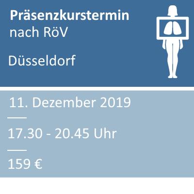 Strahlenschutzkurs am 11.12.2019 in Düsseldorf