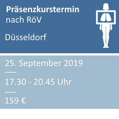 Strahlenschutzkurs am 25.09.2019 in Düsseldorf