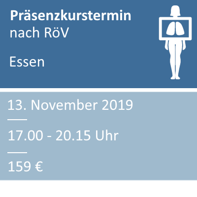 Strahlenschutzkurs am 13.11.2019 in Essen