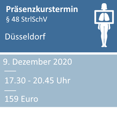 Strahlenschutzkurs am 09.12.2020 in Düsseldorf