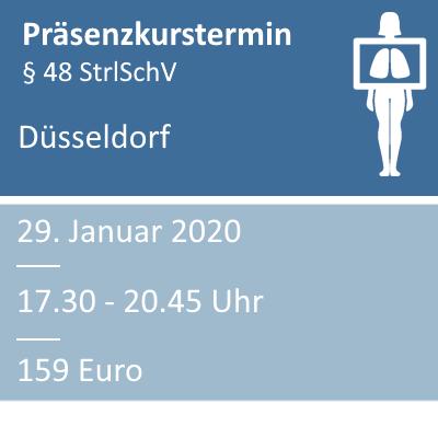 Strahlenschutzkurs am 29.01.2020 in Düsseldorf