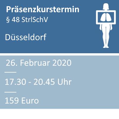 Strahlenschutzkurs am 26.02.2020 in Düsseldorf
