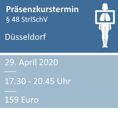 Strahlenschutzkurs am 29.04.2020 in Düsseldorf