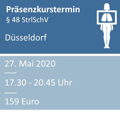 Strahlenschutzkurs am 27.05.2020 in Düsseldorf